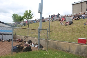 Fans pack the hill at TRE