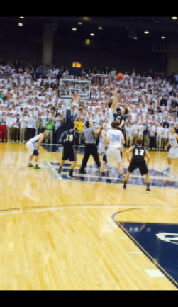 Pat Andree takes the opening tip as he helped lead the colts to the 2015 SCT finals